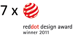 7 x red dot award product design 2011