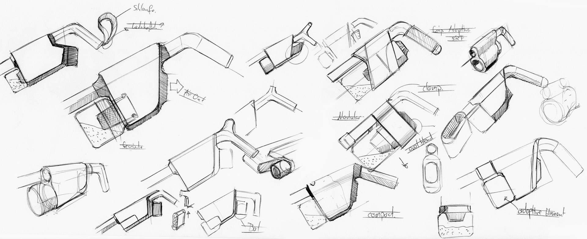 Staubsauger Designskizzen