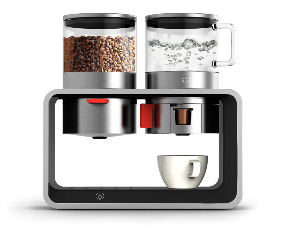 Designkonzept modulare Kaffeemaschine daniels + erdwiens