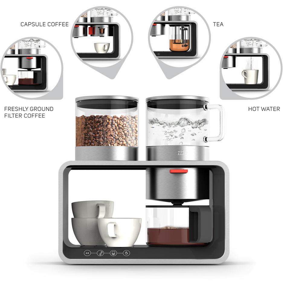 Produktdesign Conceptual Study modulare Kaffeemaschine daniels + erdwiens
