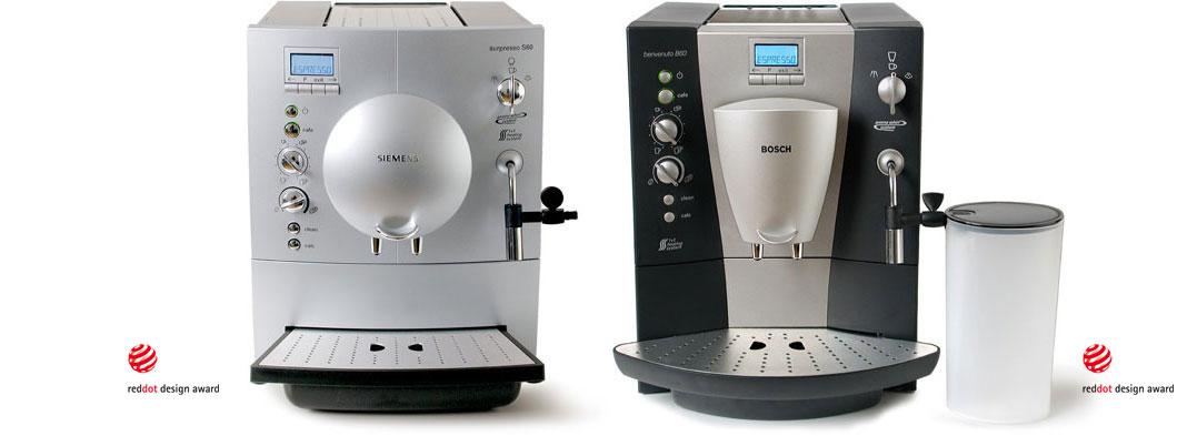 Produktdesign Siemens TK-6 Bosch TCA-6 Espresso-Vollautomaten für Bosch Siemens Hausgeräte