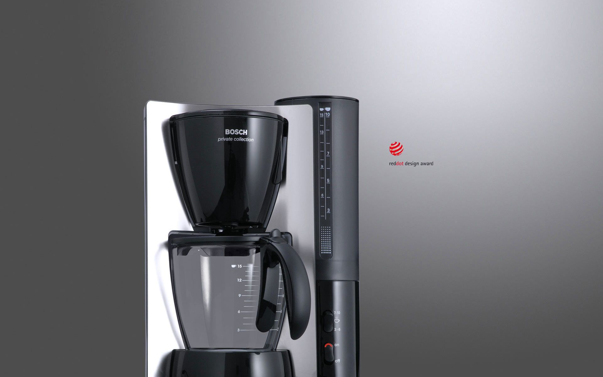 Bosch Kaffeemaschine Privat Collection Produktdesigner d+e für Bosch Siemens Hausgeräte