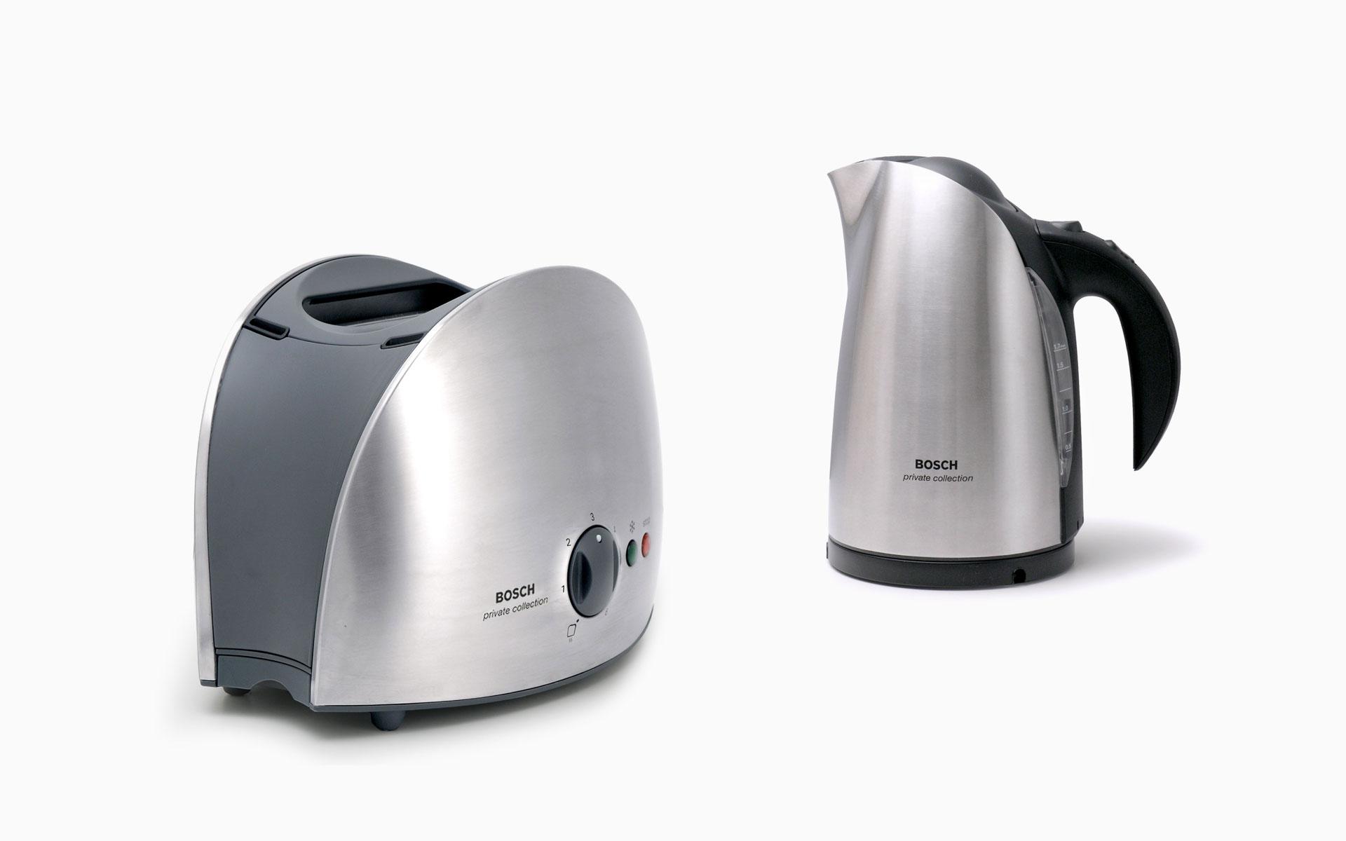 Bosch Toaster und Wasserkocher Privat Cellection Produktdesigner d+e für Bosch Siemens Hausgeräte