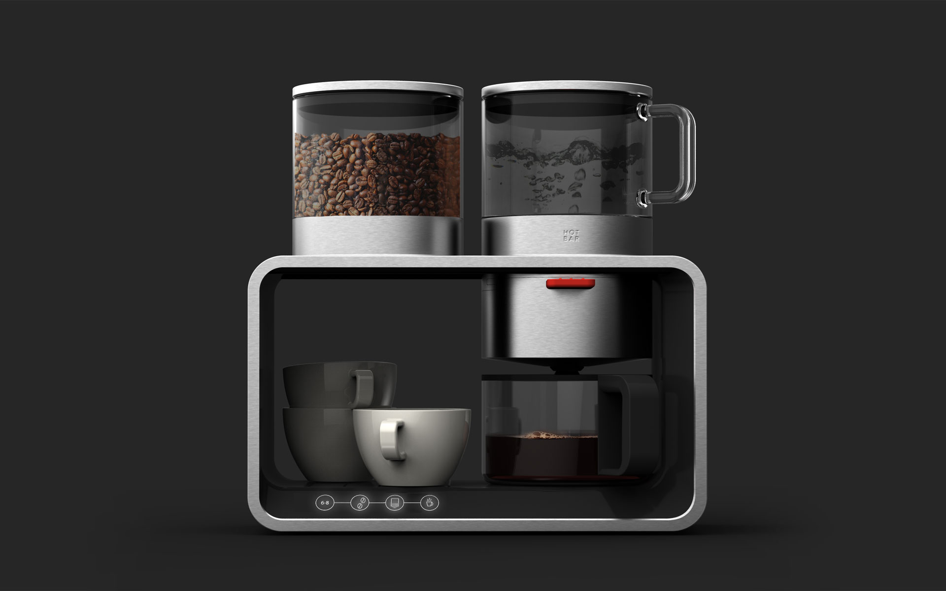 daniels+erdwiens product design concept modular coffee- tea- waterbar